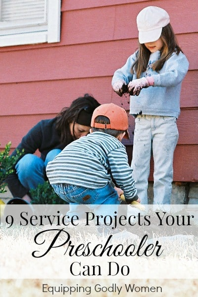 9 Service Projects Your Preschooler Can Do | Equipping Godly Women