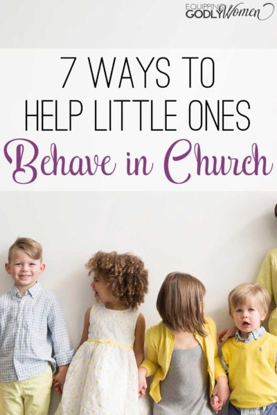 These are such great tips for helping little ones behave in church! They work for my kids at least...