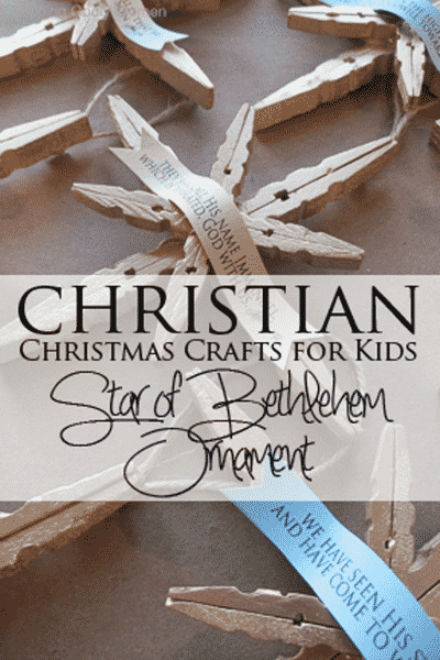 Christian Christmas Crafts.The Star Of Bethlehem Christian Christmas Craft Tutorial