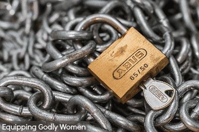 Chain lock and key