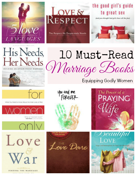 Whether your marriage is going strong or barely hanging on--these books will help! Great list!