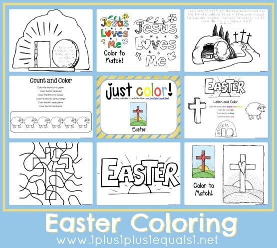 Christian Easter Coloring Pages