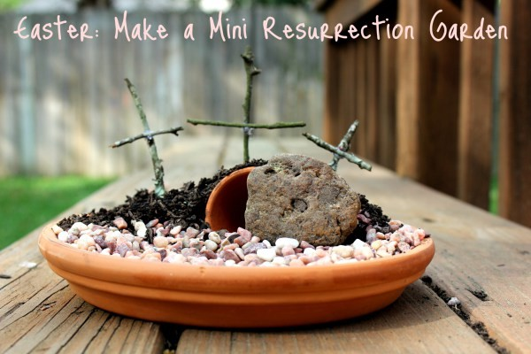 DIY Mini Resurrection Garden Easter Craft from We are That Family