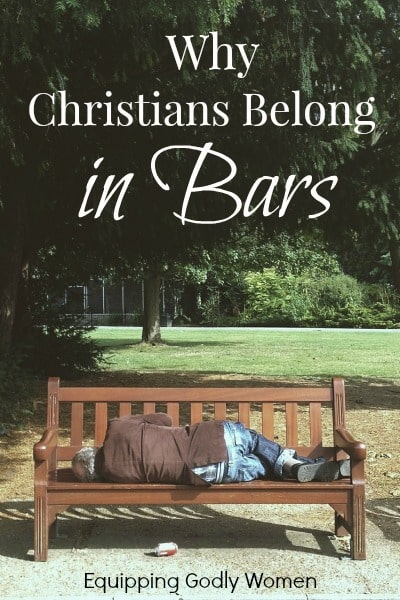 Not comfortable with the idea of good Christians hanging out in bars? It's time to get over it, and here's why.