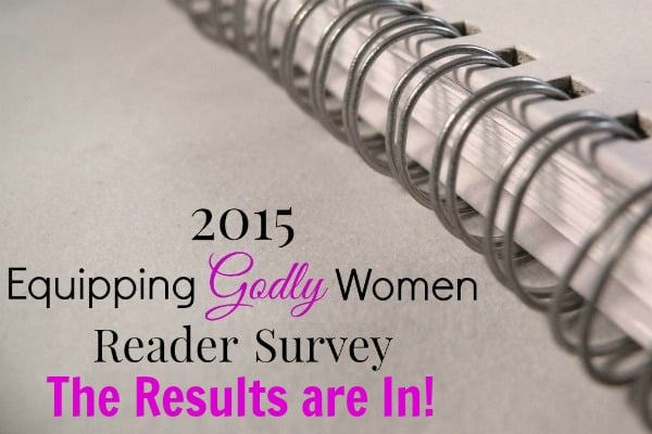 2015 Equipping Godly Women Reader Survey Results