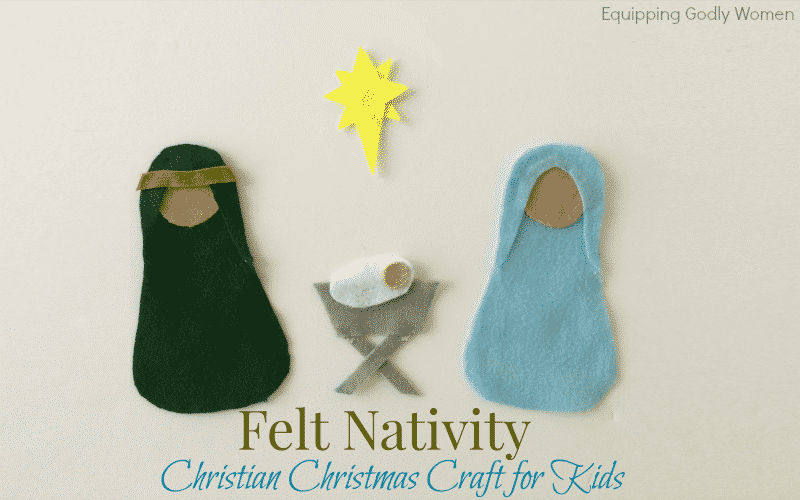 Keep Christ at the center of your Christmas activities this year with this Felt Nativity Christian Christmas Craft for Kids!