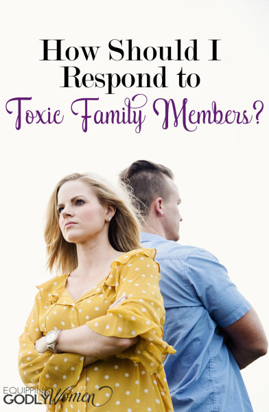 Is family discord making your life miserable? Don't sit back and let them slowly drive you insane. Here's how to deal with toxic family members Biblically.