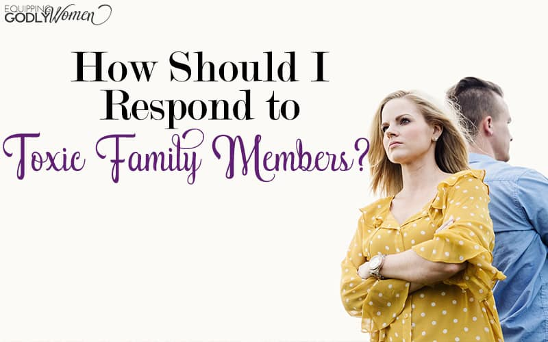 Do you have friends or family members who are downright toxic? You don't have to let them mistreat you. Find the Biblical response that protects you and your children while still being respectful here.
