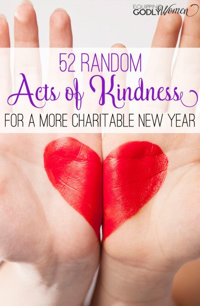 52 Random Acts of Kindness for a More Charitable New Year