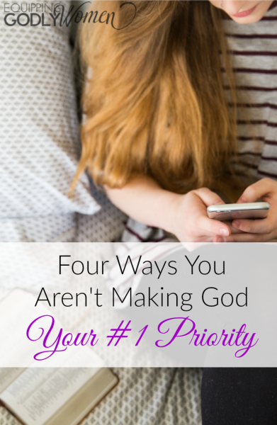 Wow! Talk about hitting a little too close to home. This article on ways you aren't making God your #1 priority is spot on. Hadn't really thought of it this way before...