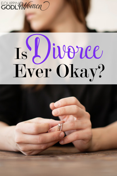 Wow. I never thought of divorce this way before. I think this will give a lot of hope to struggling wives out there. <3