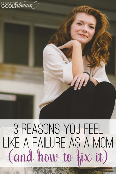 Yep. She totally nailed it. THIS is why I feel like a failure as a mom. And this article really helped.