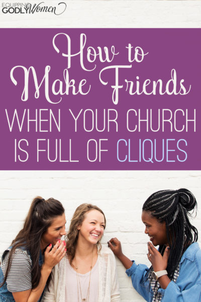 My old church used to be full of cliques! It was so hard to make friends. This article makes some really great points though...