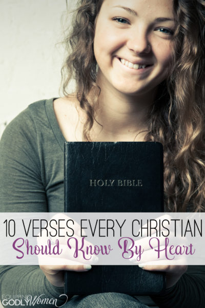 Great list of Bible verses to memorize! I need to print these out and put them somewhere I'll see them often!