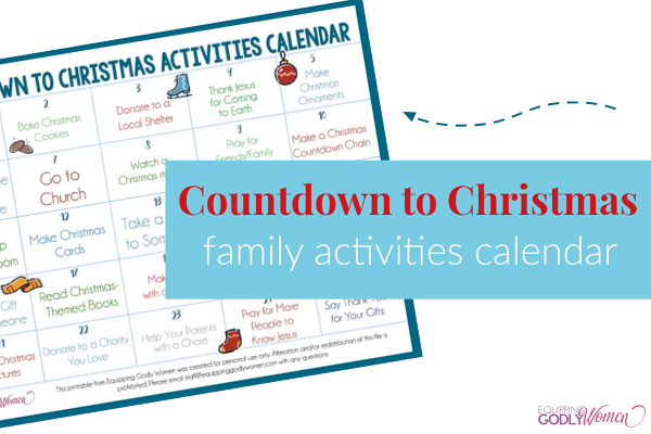 Countdown to Christmas activity