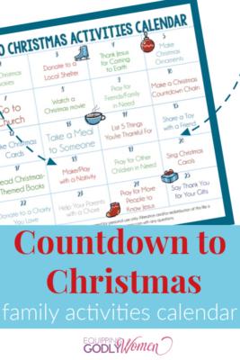 Family Activities Calendar Pin