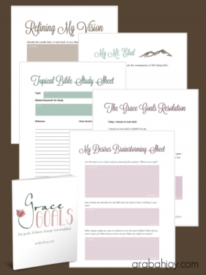 Grace Goals worksheets