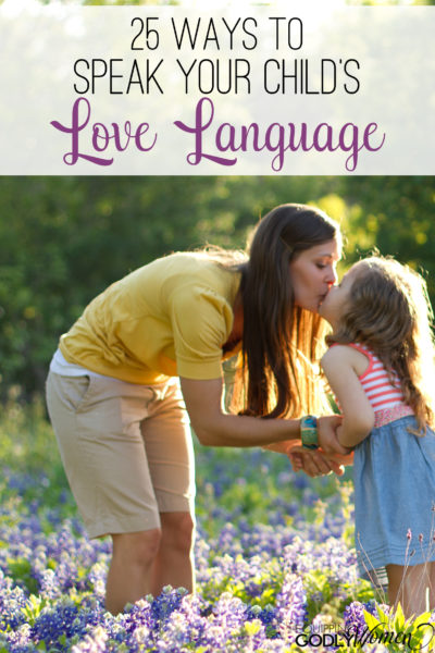 What a great list of ways to speak your child's love language! Definitely saving this list for later.