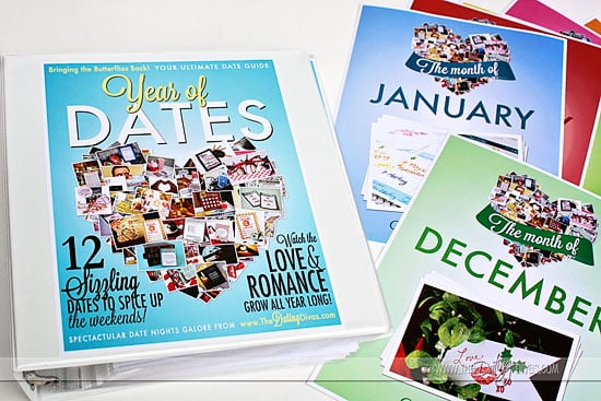 a year of dates printables
