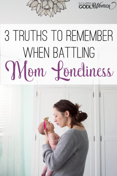 Love this! Mom loneliness is definitely something I've dealt with from time to time. So glad to know it's not just me!