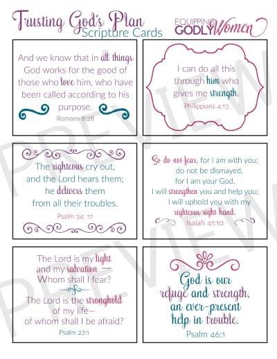 Trust Bible verse printables