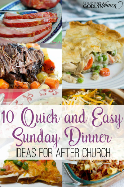 Looking for some new Sunday lunch ideas? These 10 recipes are some of my very favorite! Fast, easy, and perfect for after church.