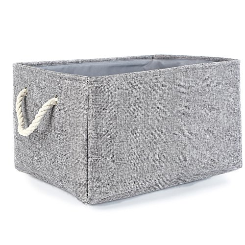 gray cloth basket