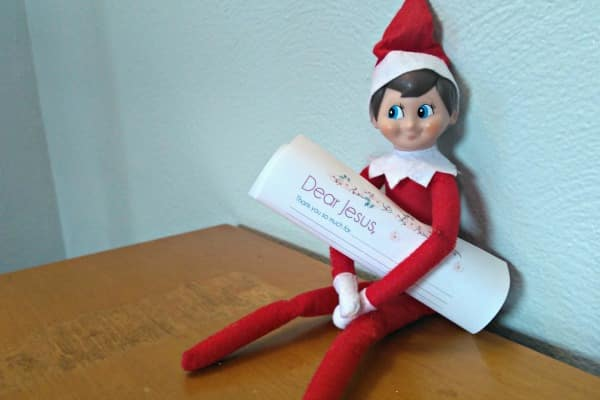 Love these Christian Elf on the Shelf ideas! Especially the printable letter to Baby Jesus! So cute!