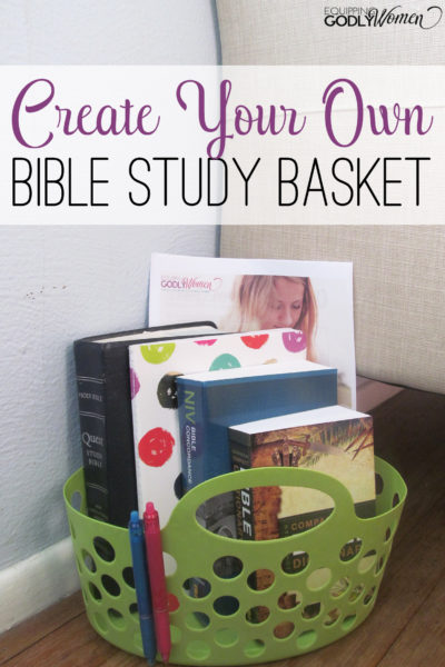 Love the idea of putting together a Bible Study Basket! This would be so helpful!