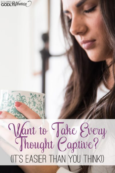 Do you ever struggle with worry, doubt, fear, insecurity or jealousy? You can be free! Read this post to learn how to take every thought captive to Christ.