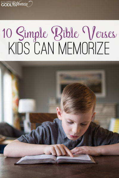 Finding Bible verses for kids is easy with these 10, simple Bible verses for kids to memorize!