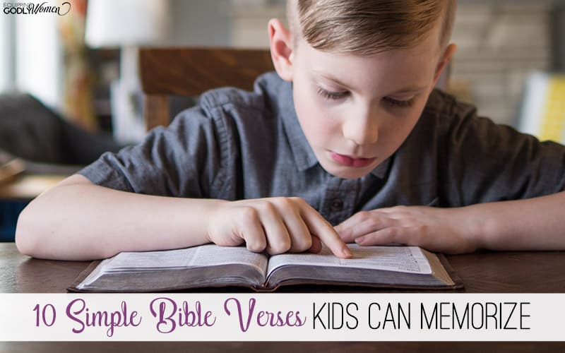 10 Simple Bible Verses Kids Can Memorize