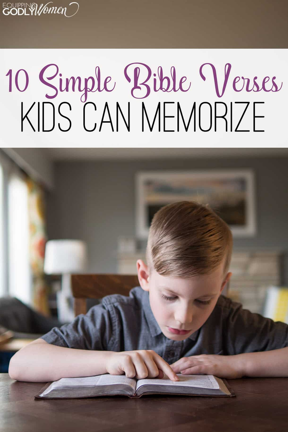 10 Simple Bible Verses Kids Can Memorize