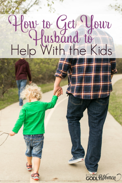 Love these tips for getting my husband to help with the kids! These are just what I needed to hear