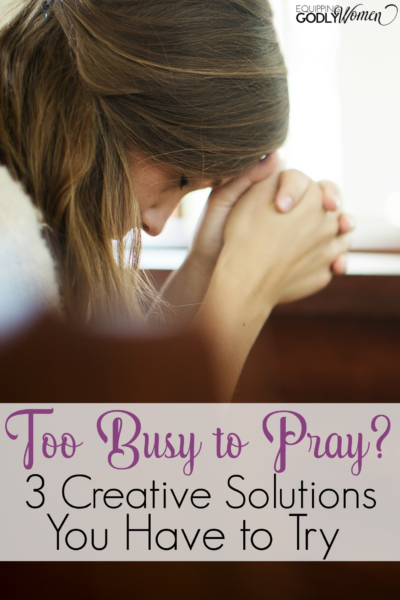 These are such helpful prayer tips for my busy life!