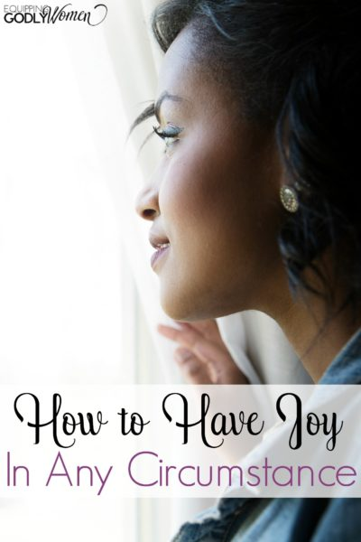 It isn't always easy to choose joy. Here is how to have joy in any circumstance.