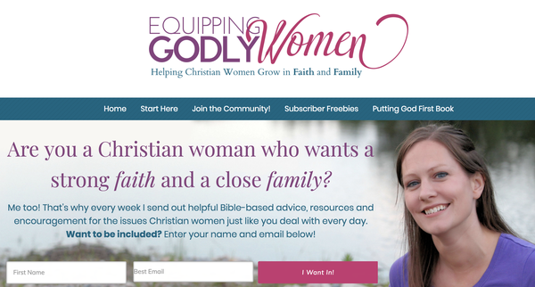 Equipping Godly Women - top Christian blogs for women