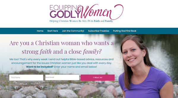 Equipping Godly Women - Website for Christian Women