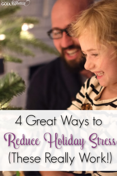 Ugh. The holidays can really stress me out! These are some great ideas to help reduce that stress that is causing you to dread that time of year!