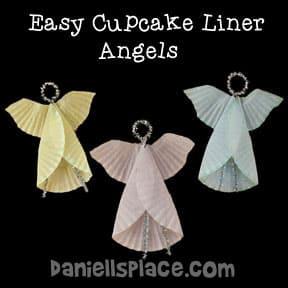 Cupcake Liner Angel Craft