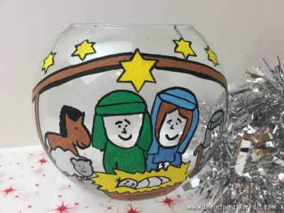 fishbowl nativity craft