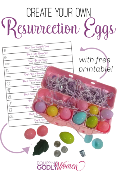 Teach your children the real meaning of Easter with this fun DIY Resurrection Eggs Lesson! (Includes free Resurrection Eggs Printable!)
