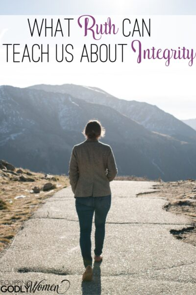 """Ever wonder, """"Who was Ruth in the Bible and what can she teach us today?"""" Find out what Ruth can teach us about integrity here."""