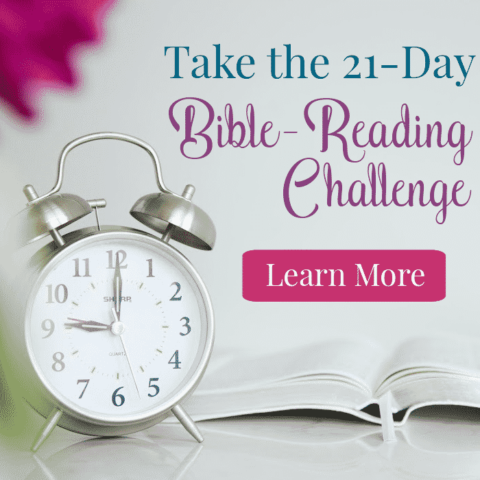 Clock Bible Join the 21 Day Bible Reading Challenge