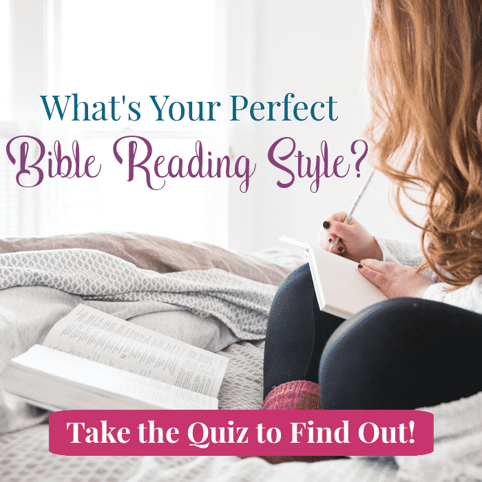 Girl Taking Bible Reading Quiz on Bed