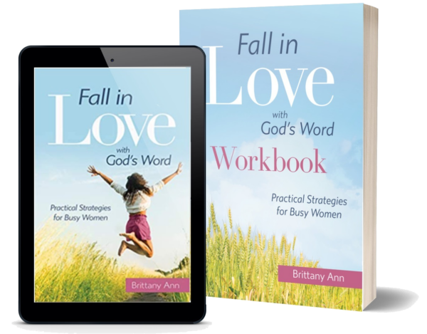 Fall in Love with God's Word book plus workbook on transparent background