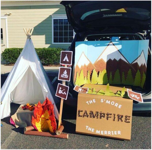 Camping Scene Trunk-or-Treat Ideas