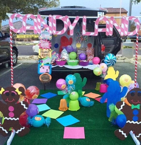 Candy Land Trunk-or-Treat Ideas